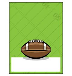 American football flyer template vector
