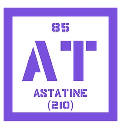 Periodic table of element astatine icon vector images 11 astatine chemical element vector urtaz Image collections