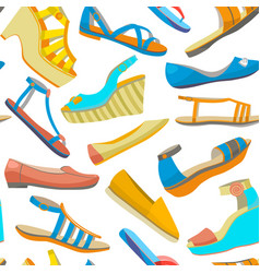 Background with summer women shoes vector