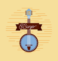 banjo jazz instrument musical festival celebration vector image