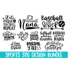 baseball cutting file with greeting card poster a vector image