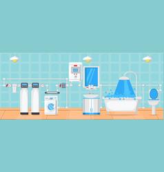 bathroom and plumbing concept vector image