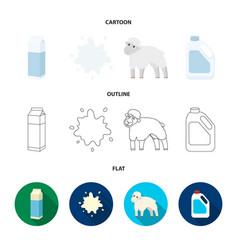 billet pack sheepblue canistermoloko set vector image