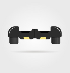 Black hoverboard with shadow vector