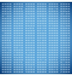 Blue binary computer code vector image