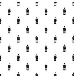 burning candle pattern seamless vector image