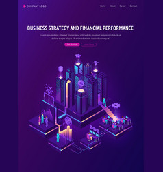 business strategy and financial performance banner vector image