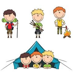 Camping Boys vector image