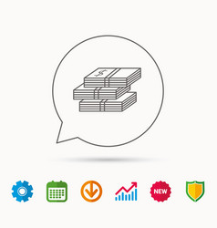 Cash icon dollar money sign vector
