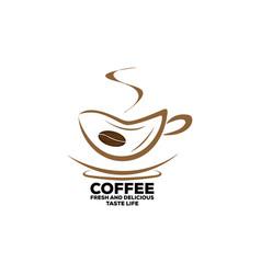 Coffee cup foam logo design template vector
