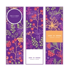 colorful garden plants vertical banners set vector image