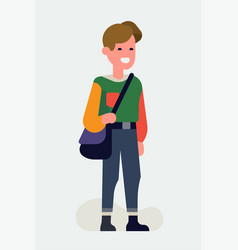Cool flat character design on aesthetics fashion vector