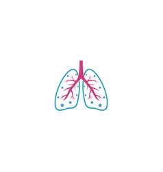 Corona virus attack lung vector