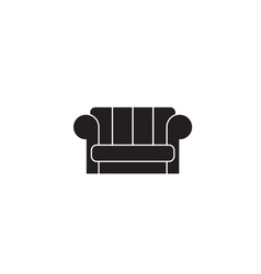 couch black concept icon couch flat vector image