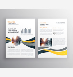 Creative annual report business brochure design vector