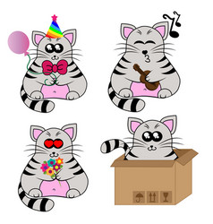 cute cat character vector image