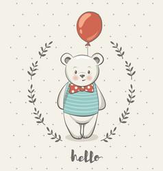 cute little bear cartoon posters vector image