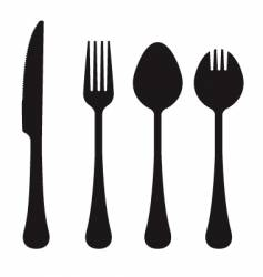 cutlery collection vector image