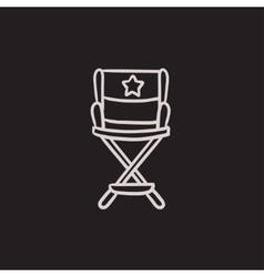 Director chair sketch icon vector image