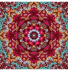 doodle seamless mandala pattern background vector image