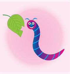 Filled happy caterpillar after breakfast vector