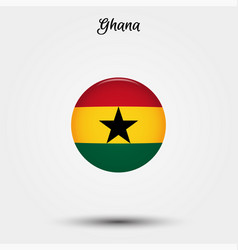 flag ghana icon vector image