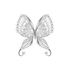 flower of butterfly vector image