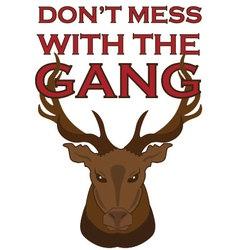 Gang elk vector