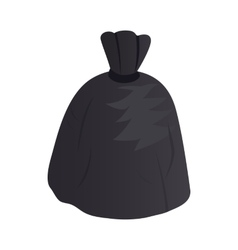 Garbage bag icon isometric 3d style vector
