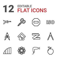 Geometric icons vector