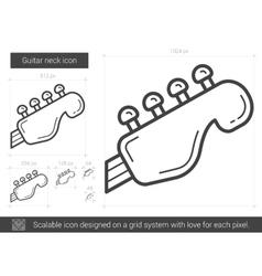 Guitar neck line icon vector image