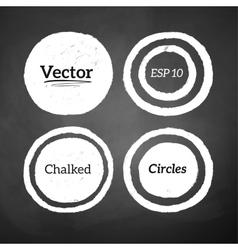 Hand drawn chalked circles vector image