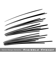 hand drawn pen scribble line set vector image