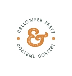 Happy halloween 2016 vintage party label vector