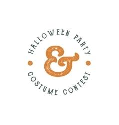 Happy Halloween 2016 vintage Party Label vector