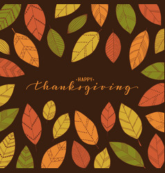happy thanksgiving brush pen lettering hand draw vector image