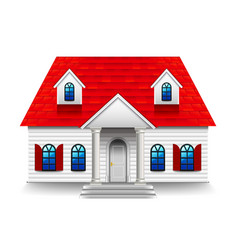 House with high roisolated on white vector
