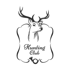 Hunting club badge vector
