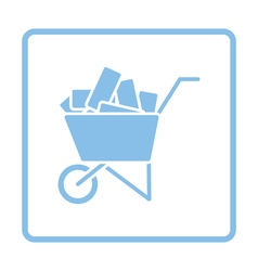 Icon of construction cart vector