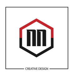 initial letter nn logo template design vector image