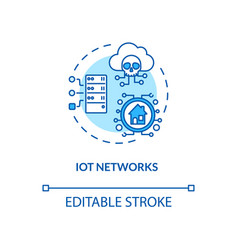 Iot networks concept icon vector