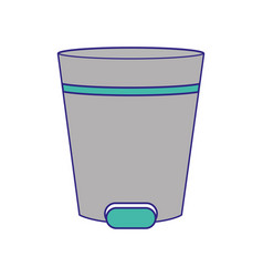 isolated trash design vector image