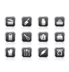 Kitchen and household Utensil Icons vector image vector image