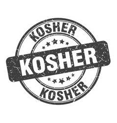 Kosher stamp kosher round grunge sign kosher vector