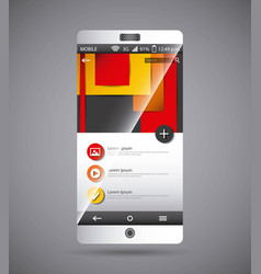 Mobile template desig vector