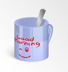 Morning cup vector