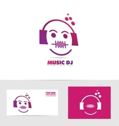 Music dj logo icon vector