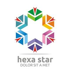 Penta house arrow design icon symbol star vector