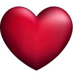 Pink 3d heart vector