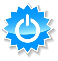 Power blue icon vector image